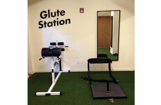 Get your butt into shape at Show Up Fitness using its Glute Station.