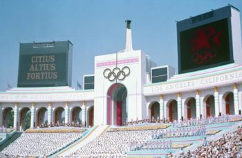 A picture of L.A. during the 1984 summer Olympics.
