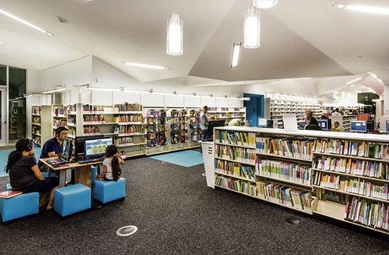 Santa Monica's Pico Branch library is located at Virginia Avenue Park at 2201 Pico Blvd.