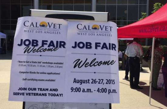 The California Department of Veterans Affairs (CalVet) hosted atwo-day job fair for 300 immediate openings for dozens of positions