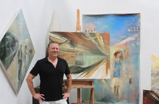 Artist Gregg Chadwick says month-to-month leases at Santa Monica Art Studios (SMAS) makes for uncertain times and added stress. The City of Santa Monica authorized 77 month-to-month leases for small tenants such as SMAS at Santa Monica Airport in July until the future of SMO becomes clearer regarding the FAA.