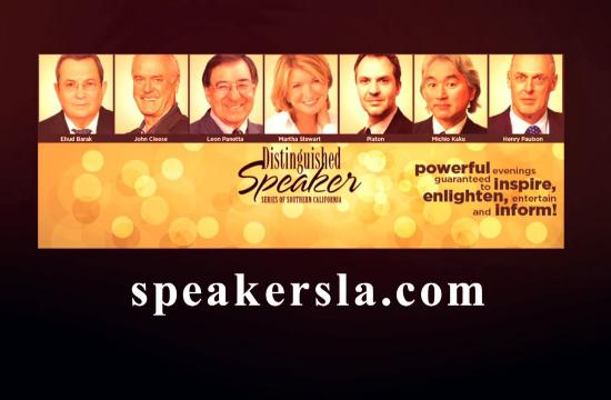 The 2015 Distinguished Speaker Series of Southern California.