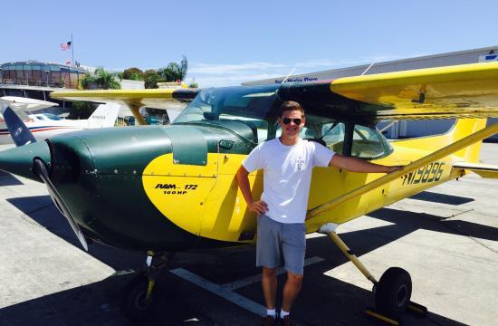 Portrait of a young pilot