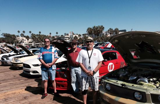 There were more than 100 classic cars on display at the Santa Monica Pier from the L.A. Chapter of the Shelby American Car Owners.