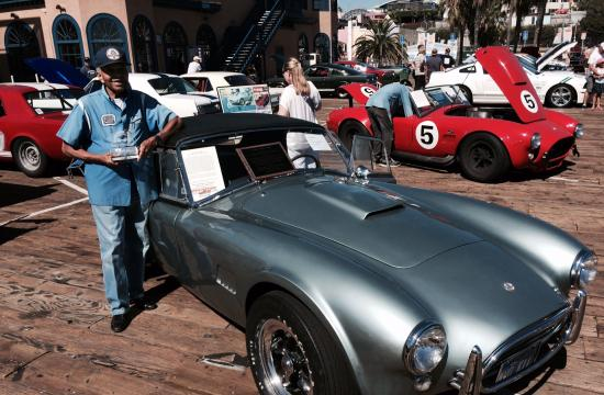 The L.A. Chapter of the Shelby American Car Owners featured the 50th anniversary of the Shelby GT350 Mustang as well as other famous vehicles at the Santa Monica Pier.