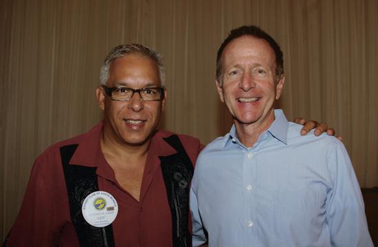 Speaker Austin Beutner (right) and Rotarian Len Lanzi.