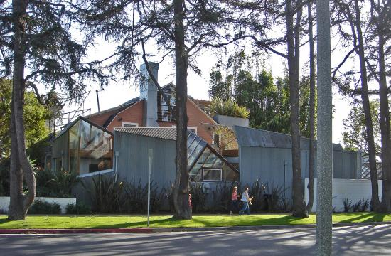 Frank Gehry's house on the corner of 22nd St. and Washington Ave. It is built upon an old house