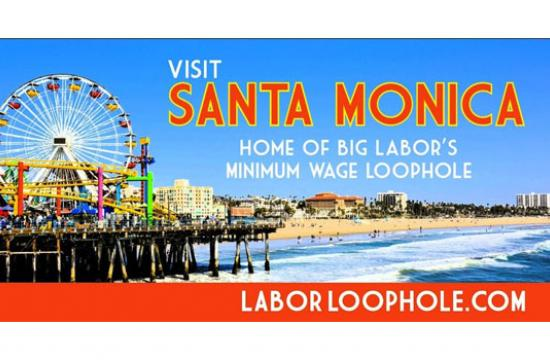 The Employment Policies Institute has been circling this mobile billboard in Santa Monica City Hall showcasing union hypocrisy.