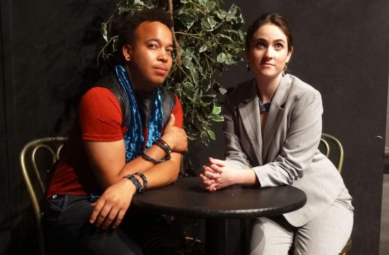 Ayinde Ross and Sophie Jones Kellett perform in 'The Great God Pan' at Santa Monica College Theatre Arts Main Stage Oct 16-25.