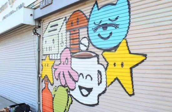 Graffiti artist Narrator was recently hired to paint a mural at Great Western Steak and Hoagie Company at 1720 Lincoln Blvd.