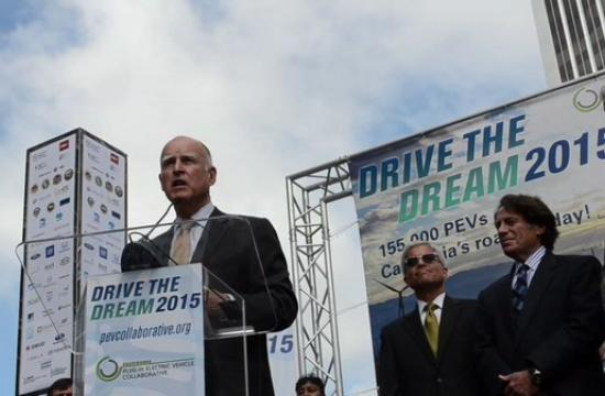 A sunny and windy morning was the perfect climate to praise renewable energy in Century City and the rest of California during the second annual Drive the Dream 2015 with the California Plug-In Electric Vehicle (PEV) Collaborative