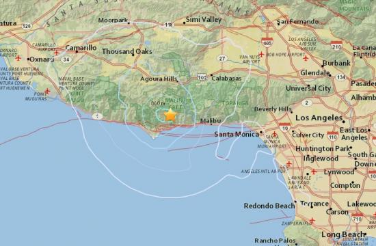 A magnitude 3.3 earthquake struck 4 miles west-northwest of Malibu just after 4 a.m. this morning