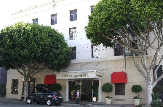 Hotel Carmel is located at 201 Broadway in Santa Monica.
