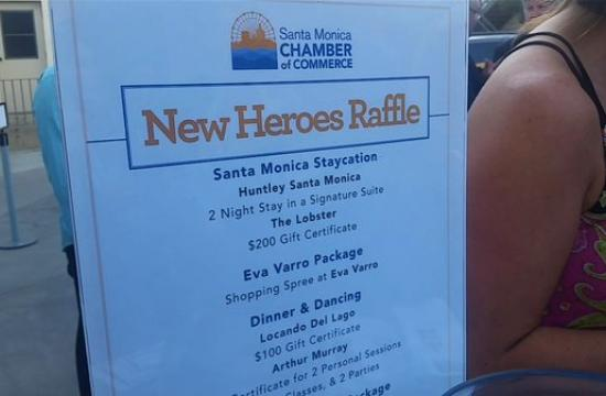 The Santa Monica Chamber of Commerce held its 21st annual New Heroes celebration on Monday
