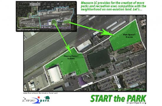 """The above illustration shows the overall """"airport"""" property of three distinct parcels"""