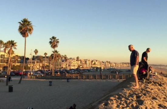 The berms are up on Venice Beach and while they do have a legitimate function