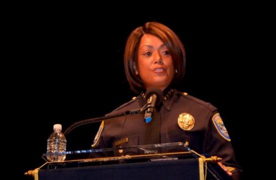 Santa Monica's police chief Jacqueline Seabrooks is defending her officers and a 911 caller after a black executive said she was detained as a burglary suspect in her own home because of her race.