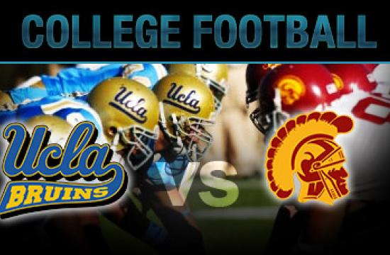 The UCLA-USC football game will be played today at the Los Angeles Memorial Coliseum.