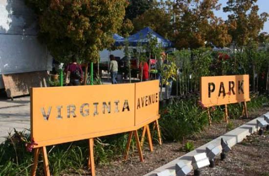 Virginia Avenue Park on the corner of Cloverfield and Pico Boulevard.