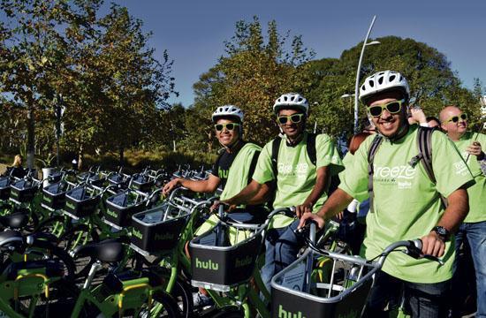 Santa Monica's bike share program Breeze has had a big uptake since officially launching Nov. 12.