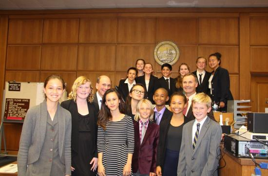 JAMS mock trial students following a recent competition.