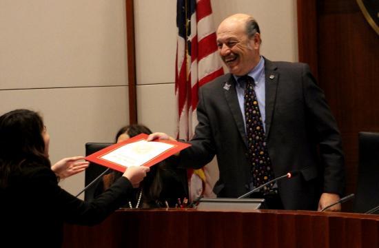 Tony Vazquez was installed as Mayor of Santa Monica on Tuesday night.