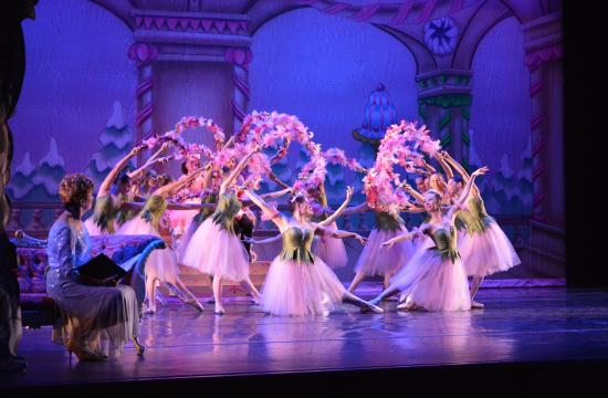 Waltz of the Flowers scene from Westside Ballet's abbreviated Nutcracker performance for Santa Monica-Malibu Unified School District students on December 2