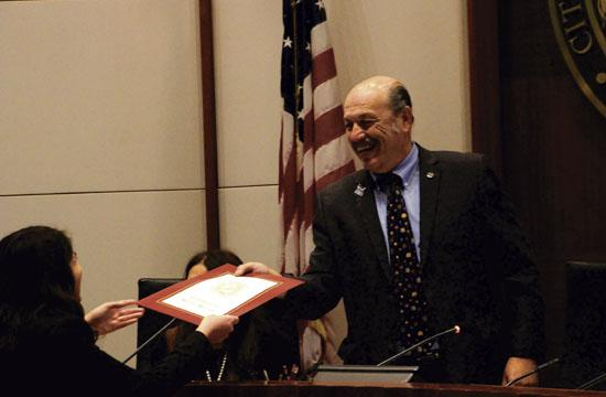 Tony Vazquez was installed as Mayor of Santa Monica on Tuesday night