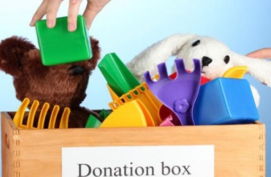 Preschooler's donations to benefit local Present Now charity.
