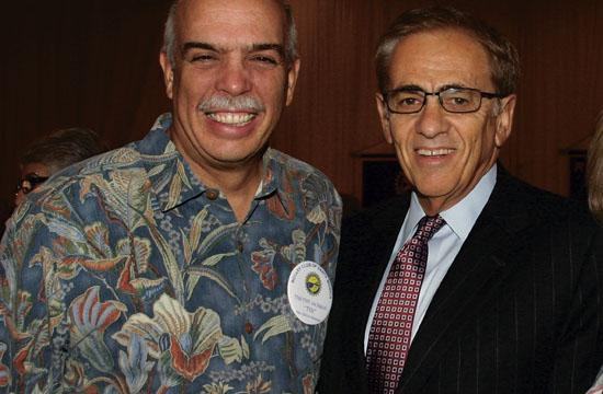 Speaker Michael Rich (right) with Rotarian Tim Jackman