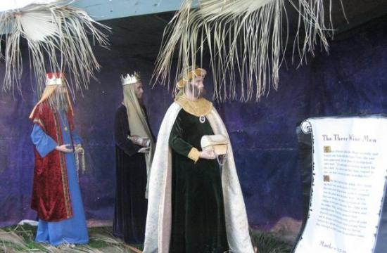 One of the 13 nativity scenes that will remain on display through Jan. 6, 2016.