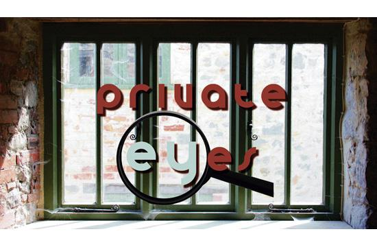 """Private Eyes"" at Morgan-Wixson Theatre runs Jan. 16 through Feb. 7. It will run on Fridays and Saturdays at 8 pm and Sundays at 2 pm."