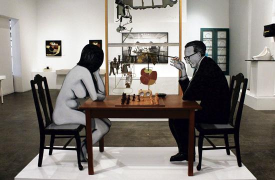 Julian Wasser: Duchamp in Pasadena Redux