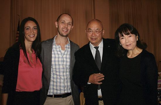 From left, Jennifer Hudson, speaker Dr. Eric Hudson, Tom Loo and Stefani Loo.