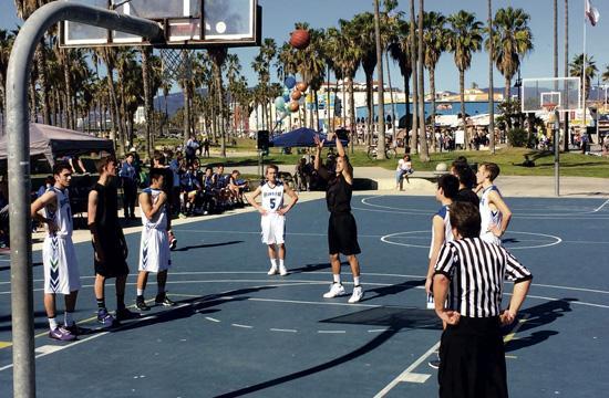 Pacifica vs. Albert Einstein Hit Famous Beach Courts