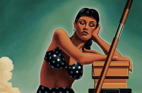 """Depending on the Ice Chest."" Art by Kenton Nelson"