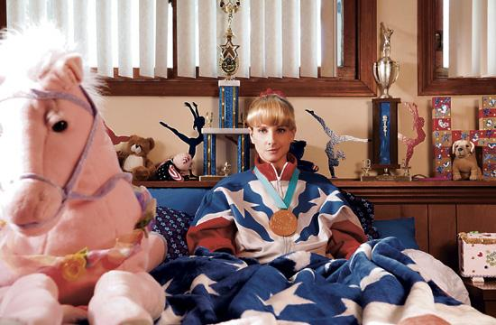 "Melissa Rauch as former Olympic star Hope Ann Greggory in ""The Bronze."""