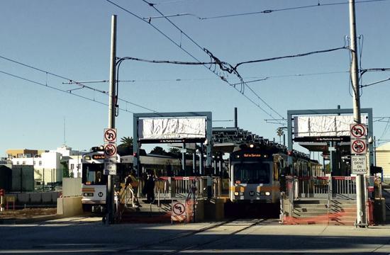 Metro line Santa Monica