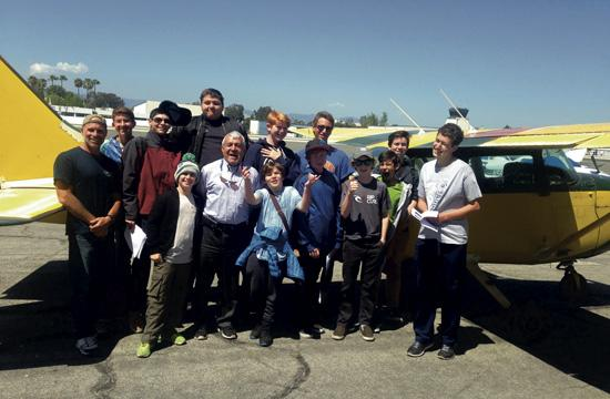 The Santa Monica Airport chapter of the Experimental Aircraft Association (EAA) recently partnered with John Wilson, Scoutmaster of Pacific Palisades Boy Scouts of America Troop 23, to help twelve aspiring Eagle Scouts earn their Aviation Merit Badges.