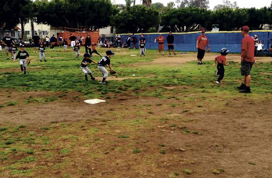 Saturday saw hundreds of young baseball players take to Santa Monica's Los Amigos Park for the finals of this season's PONY baseball league.