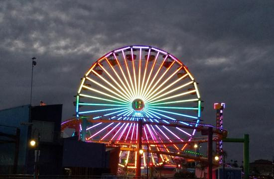 Rainbow Flag Ferris Wheel