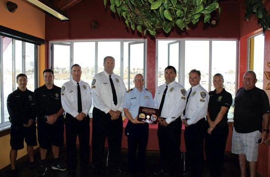 "The United States Coast Guard presented the Santa Monica Police Department (SMPD) Harbor Unit with an award recognizing their service and vigilance on Wednesday. On the plaque, the engraved ""semper paratus"" meaning ""always ready"" shone through the sunlit room as a sign of excellence. ""On behalf of the Santa Monica police department, we are extremely proud of our harbor unit, and are appreciative of the United States Coast Guard for recognizing the quality of work that we've had for over fifty years with them,"" said SMPD Lieutenant Saul Rodriguez."