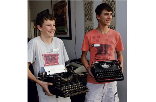 Kids and TypeWriters