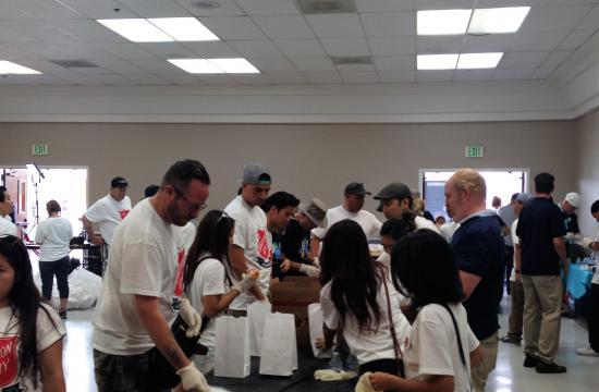 Feeding the Homeless in Santa Monica
