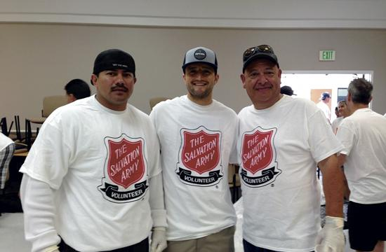 Groups of regular Salvation Army volunteers, Morgan Stanley employees, and participants from the CLARE foundation alumni association all organized volunteer groups.