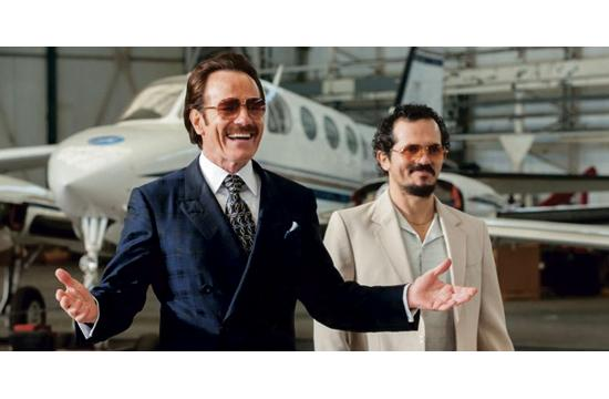 "L-R:  Bryan Cranston plays Robert Mazur, a federal undercover agent with John Leguizamo his partner Emir in Brad Furman's ""The Infiltrator."""