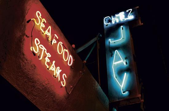 Chez Jay in Santa Monica. The circa 1959 establishment itself is old, kind of crusty and definitely jaded. The martinis are well-chilled and made to perfection and the cuisine is classic old-school. The perfect spot.
