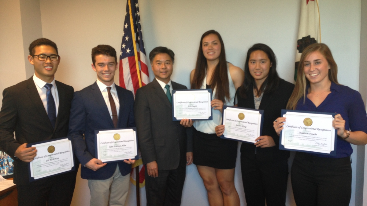 Ted Lieu and California Military Service Academy Nominees