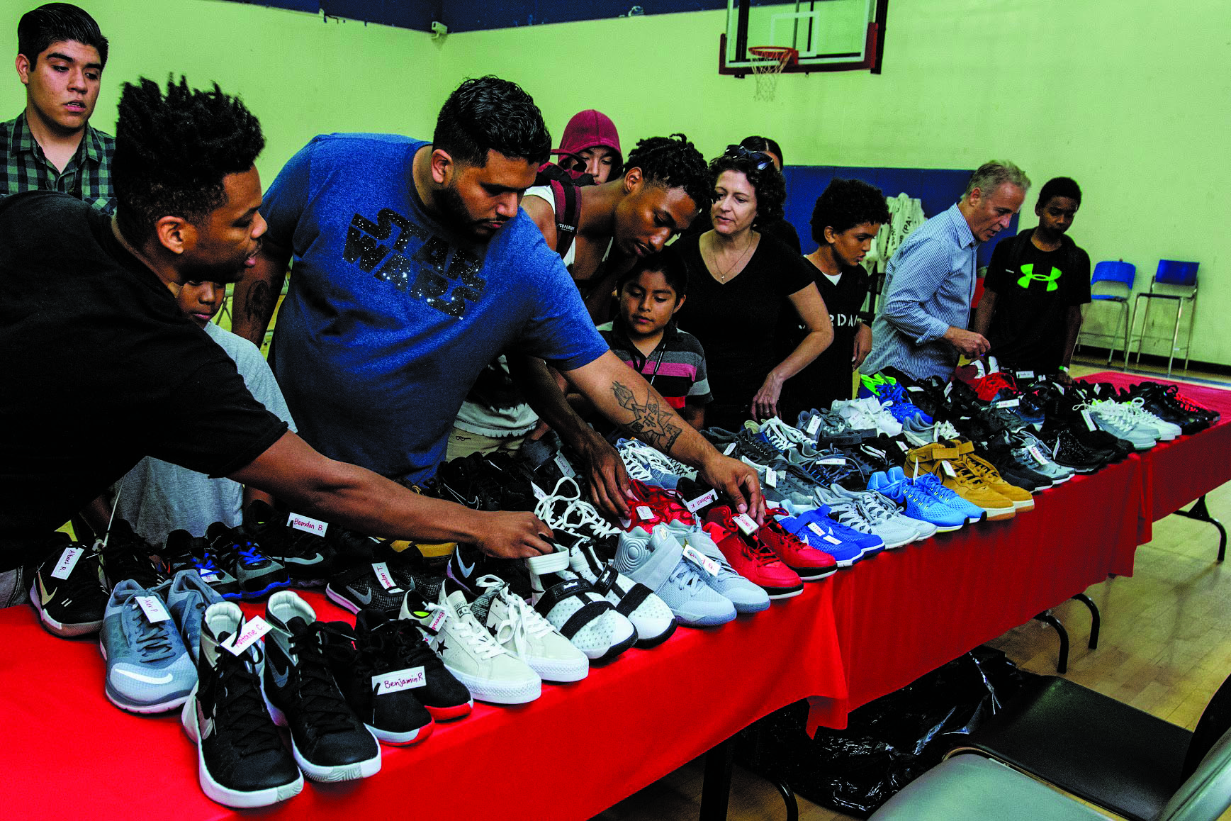 police activities league and shoes