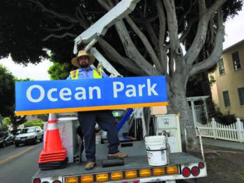 Ocean Park's new street sign